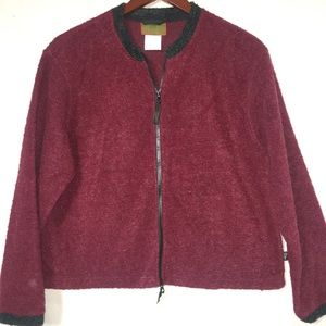Horny Toad large zippered sweater mohair (P)